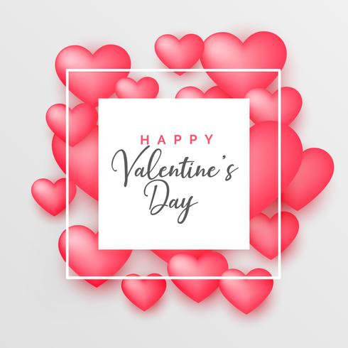 3d pink hearts beautiful background for valentine's day