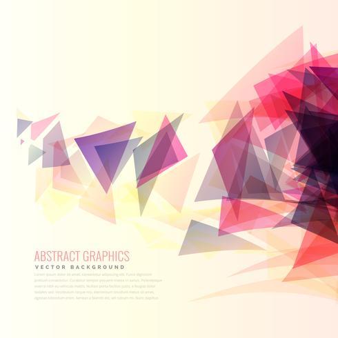 färgglada abstrakta triangeln former vektor bakgrund