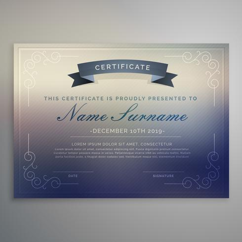 horizontal certificate template design