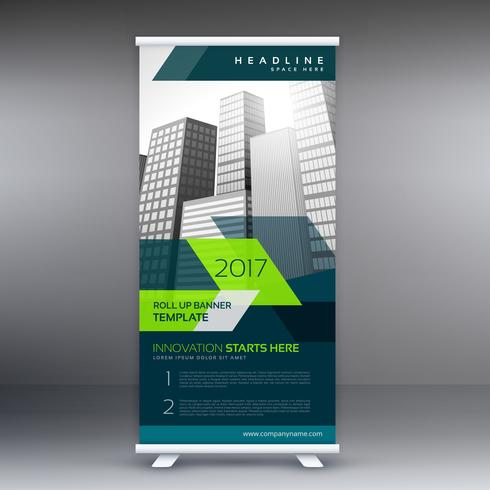 roll up banner stand template for your business presentation