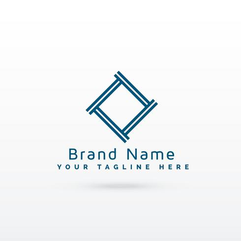 vecteur de concept élégant logo gemetric