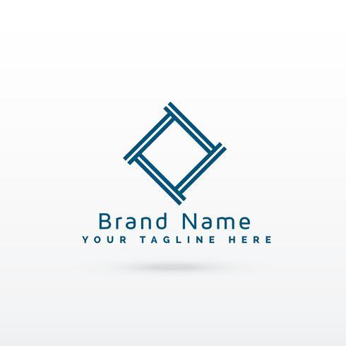 stylish gemetric logo concept vector
