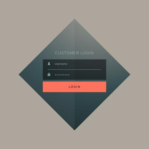 customer login form design with username and password
