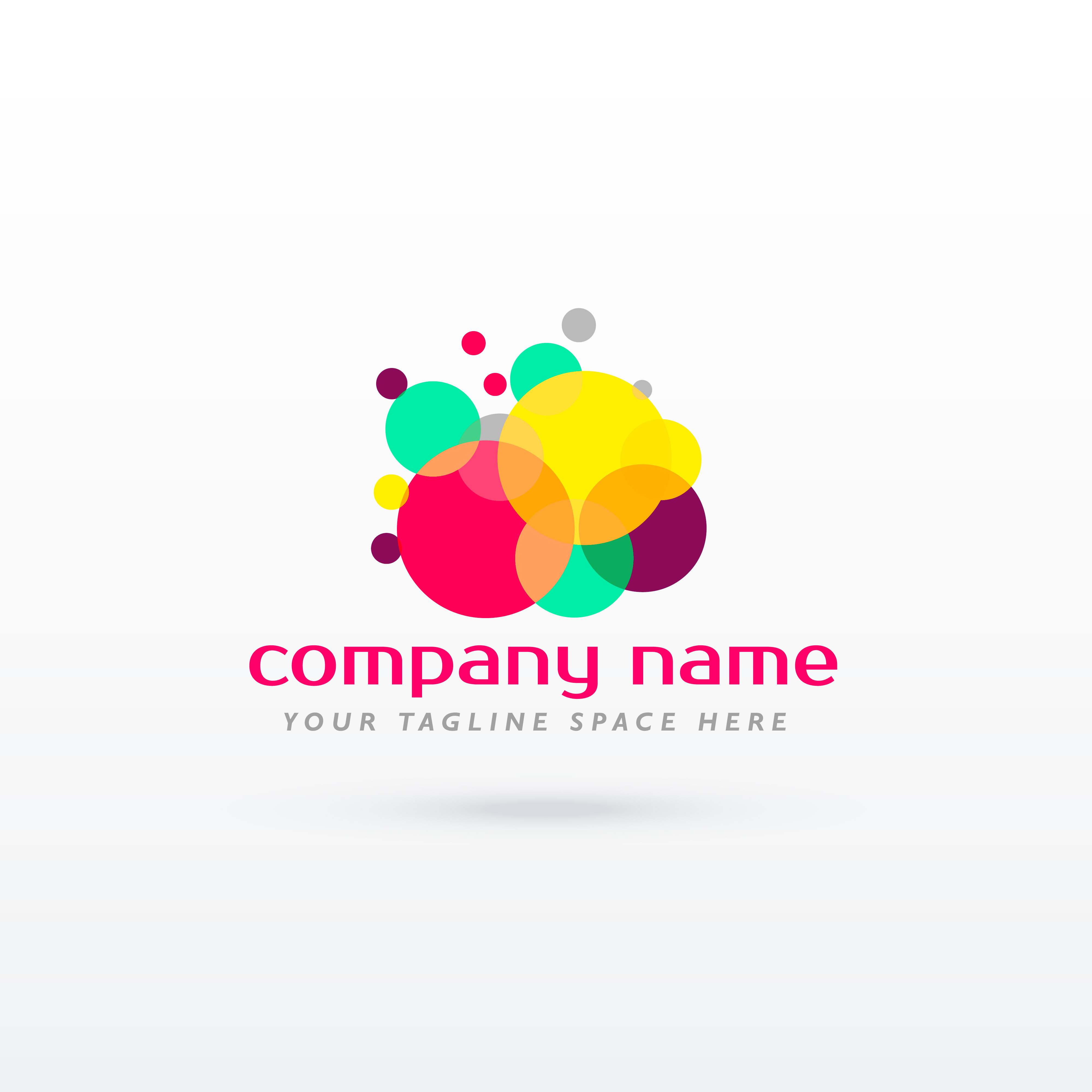 abstract circle colorful logo concept design download