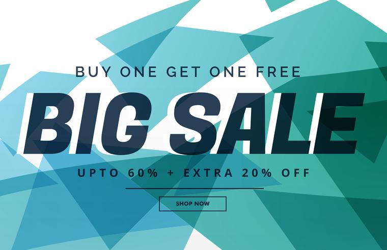 abstract big sale discount banner template