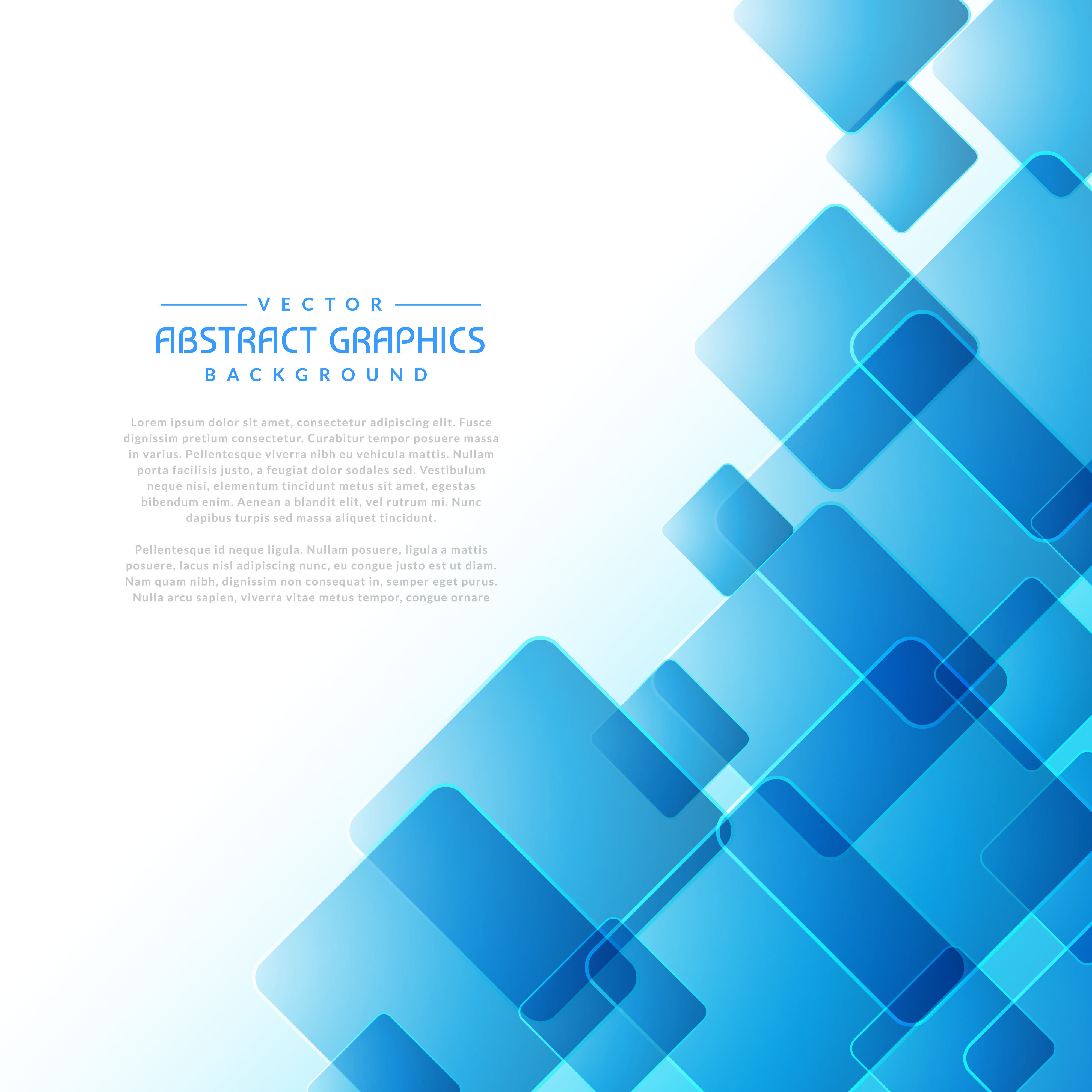 White Education Background Vector Vector Art Graphics: Abstract Background With Blue Square Shapes