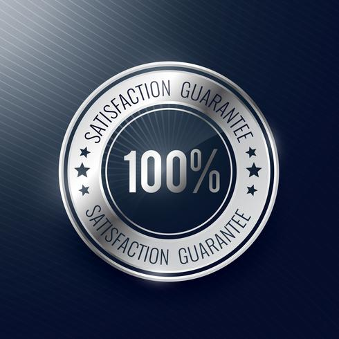 satisfaction guarantee silver label and badge