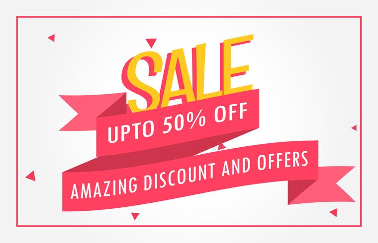 discount banner design voucher template - Download Free Vector Art ...