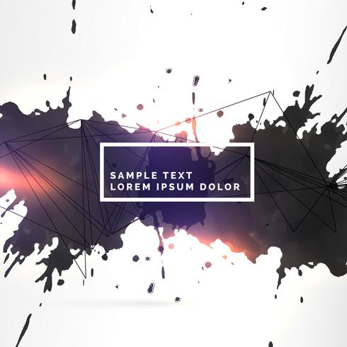 amazing dirty black ink splatter background template