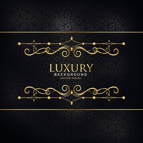 premium luxury invitation background with golden design decorati