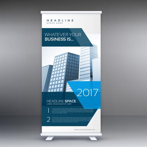 business roll up standee banner flyer design template