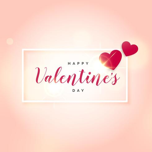 pink background with two hearts for valentine's day