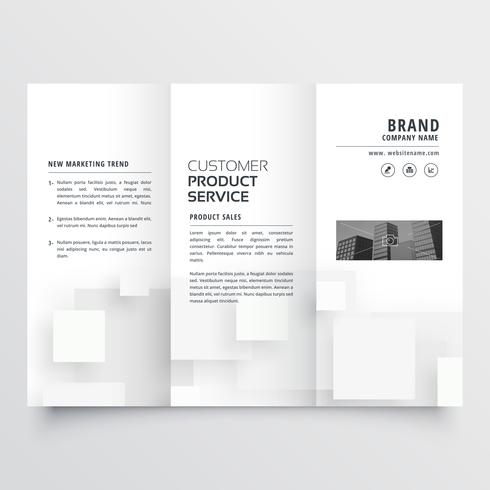clean minimal white trifold brochure design template download free