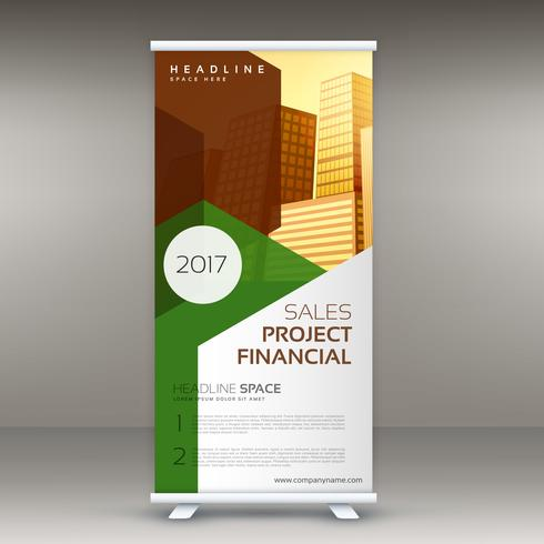 rollup design template vertical standee