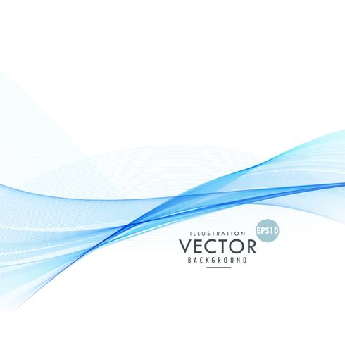 blue wavy line background design