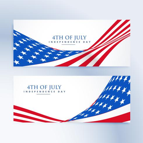 american independence day 4th of july banners