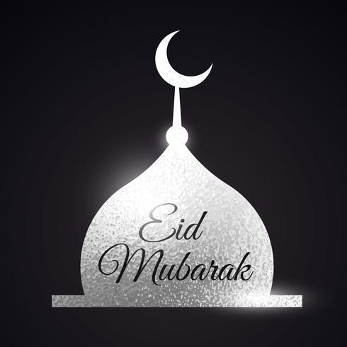 silver moské form. Eid mubarak muslims festival