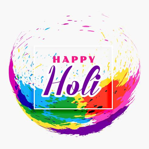 happy holi festival banner design