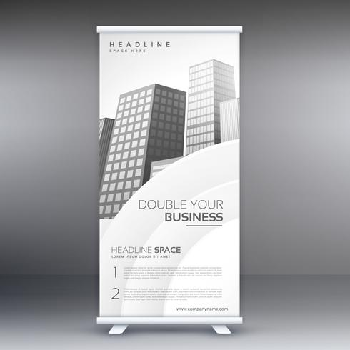 elegant white standee roll up banner design template