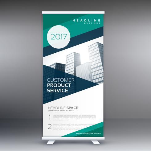 modern elegant business roll up presentation banner