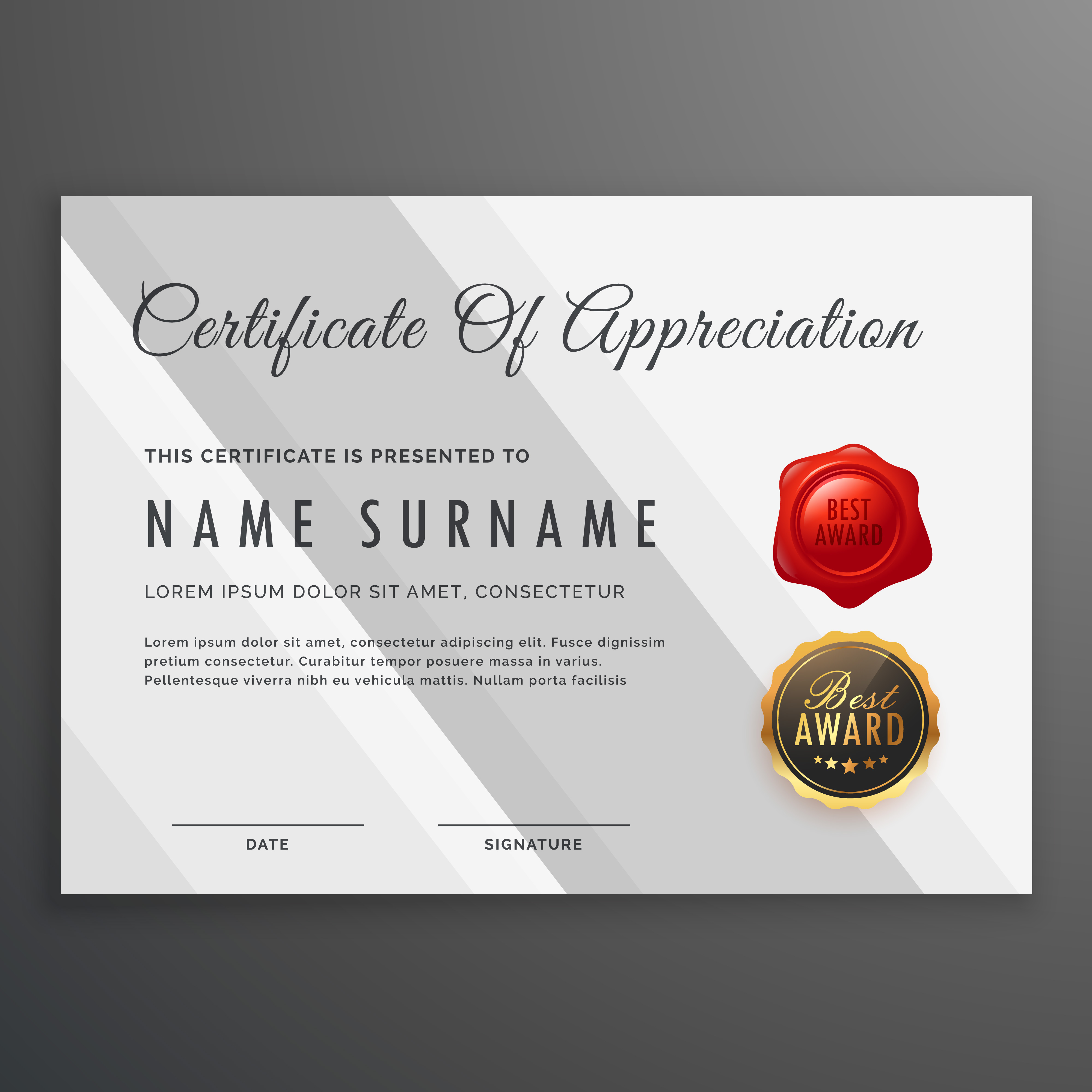 Simple white certificate template design download free vector simple white certificate template design download free vector art stock graphics images xflitez Image collections