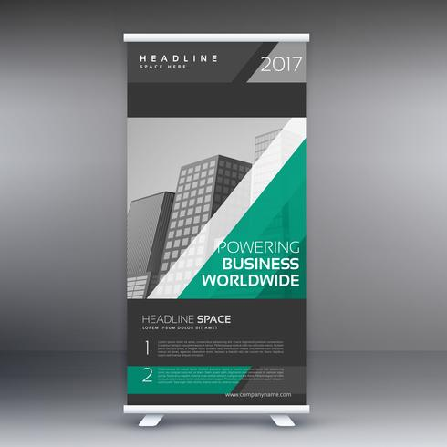 elegant company roll up banner template design
