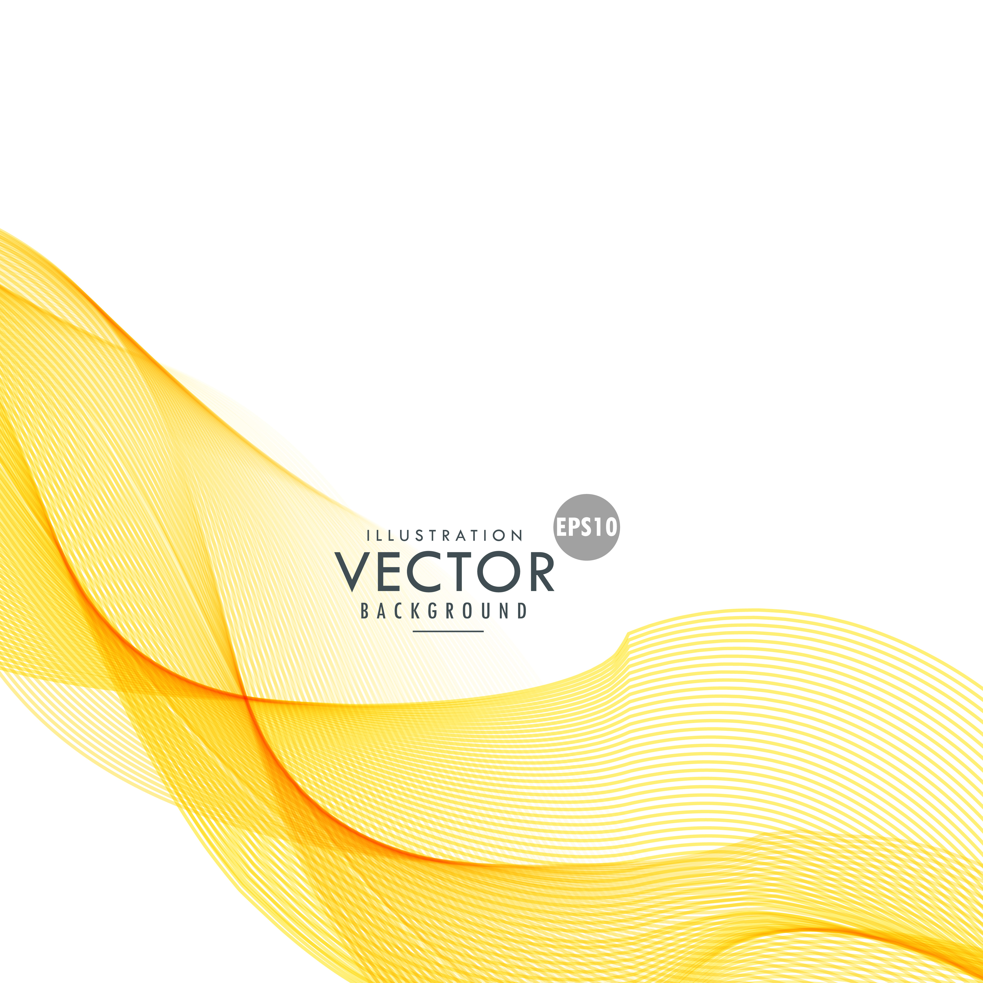 yellow beautiful wave vector background - Download Free ...