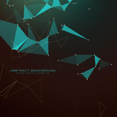 abstract dark background with triangles, dots and lines