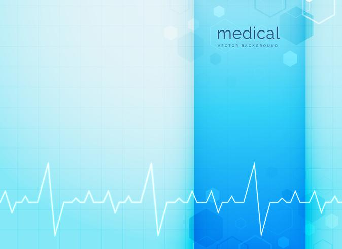 blue medical and science background with heartbeat line
