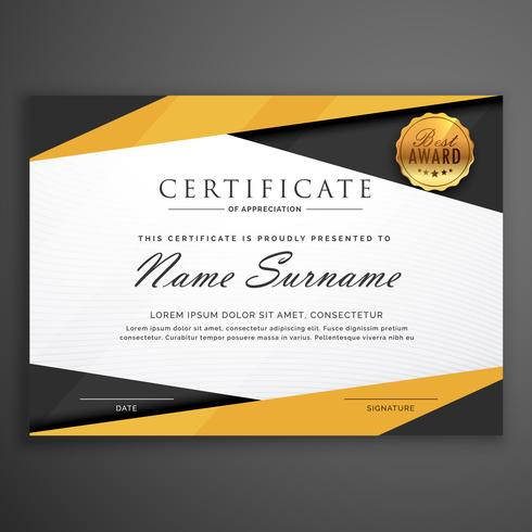 Yellow and black geometric certificate award design template yellow and black geometric certificate award design template yelopaper Image collections