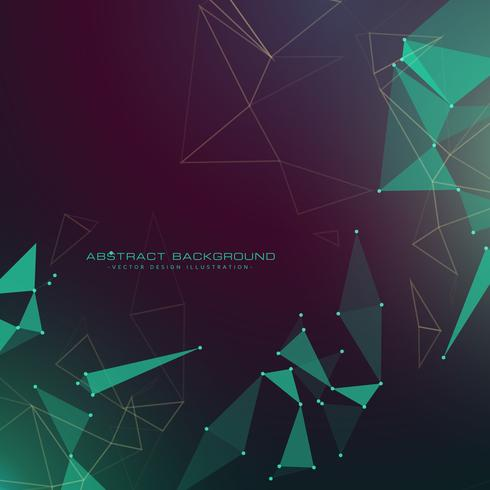 modern abstract futuristic technology style background with tria