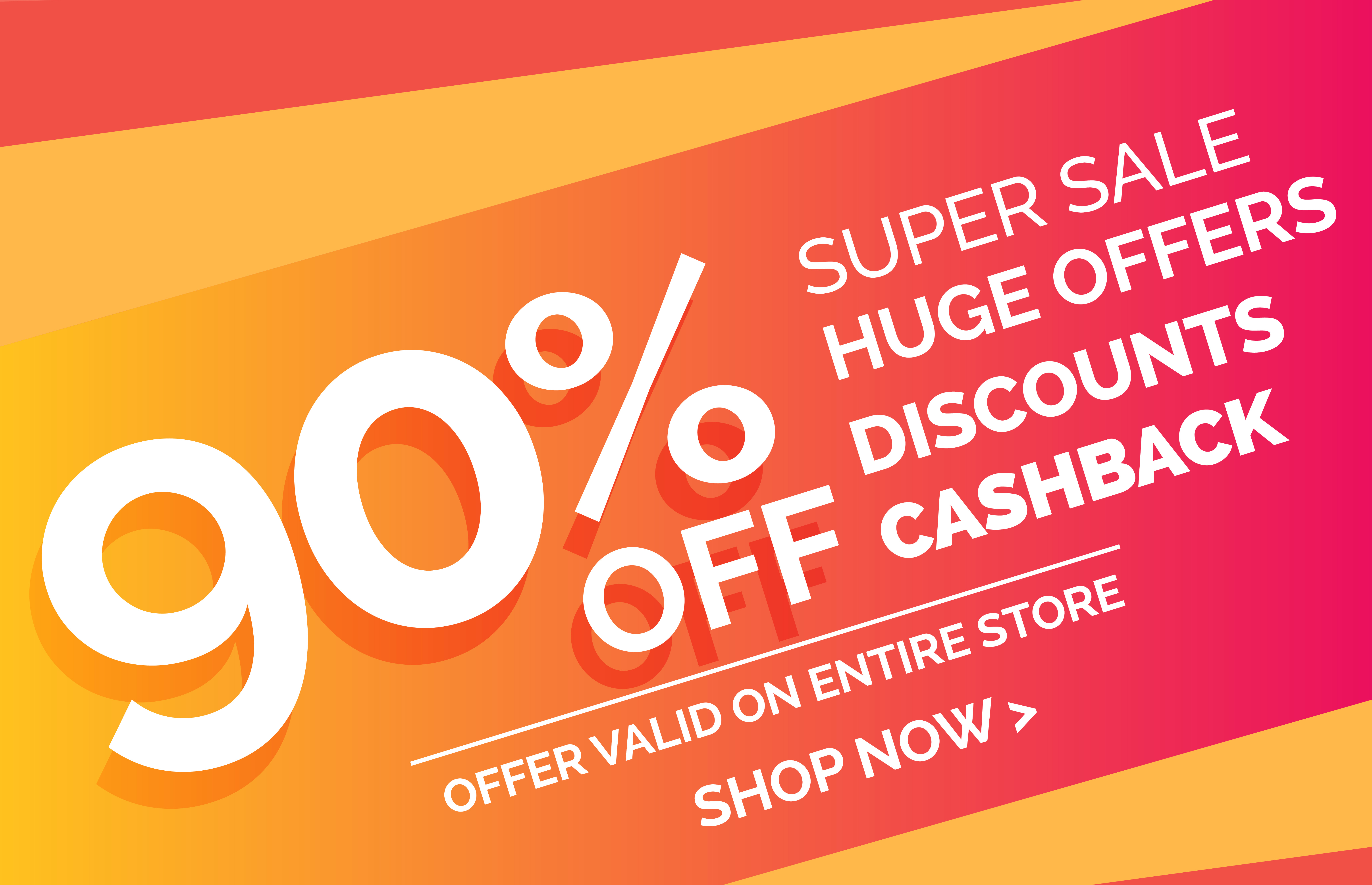 crazy sale offer discount banner voucher template design download free vector art stock