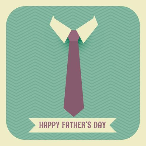 happy fathers day with tie and collar