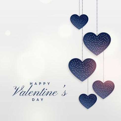 hanging hearts for valentine's day background