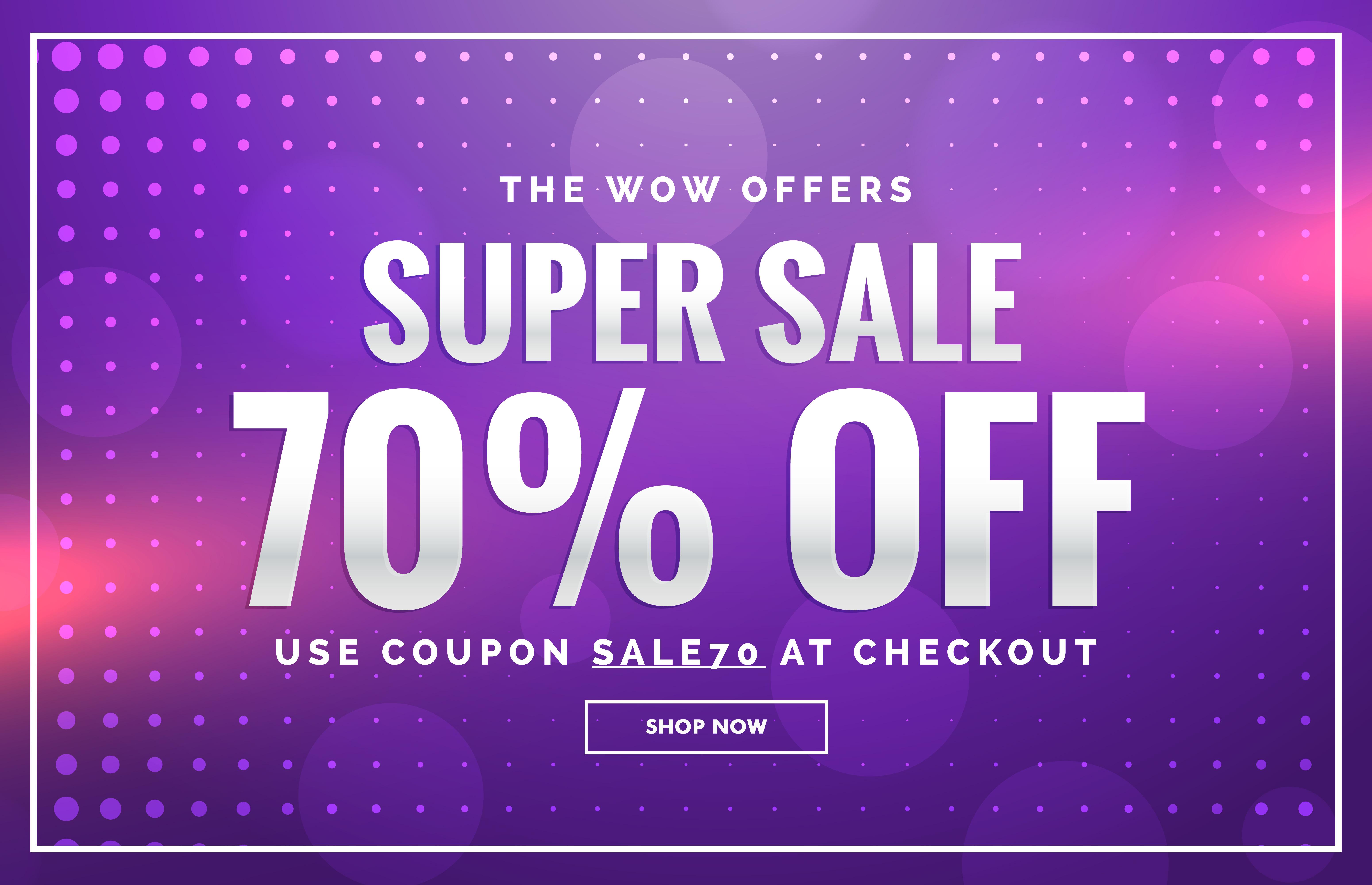 purple sale banner design with offer design for promotion