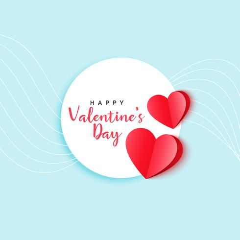 red origami hearts elegant valentine's day background