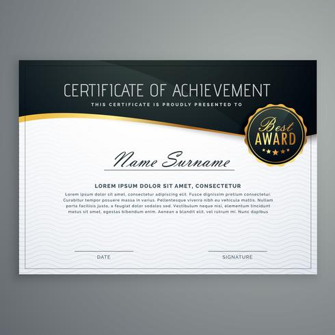 certificate design with luxury style pattern. diploma template