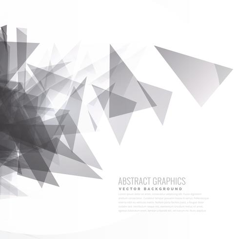 abstract gray triangle vector burst background