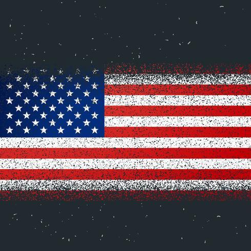 Grunge getextureerde vlag van Amerika