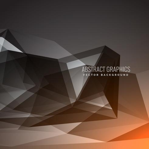 black dark background with abstract shapes