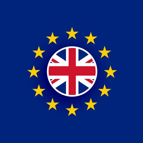 uk flag inside european union flag