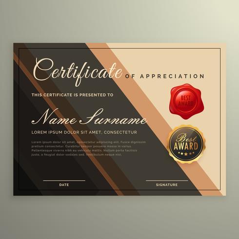 creatief certificaatontwerp, diplomavector