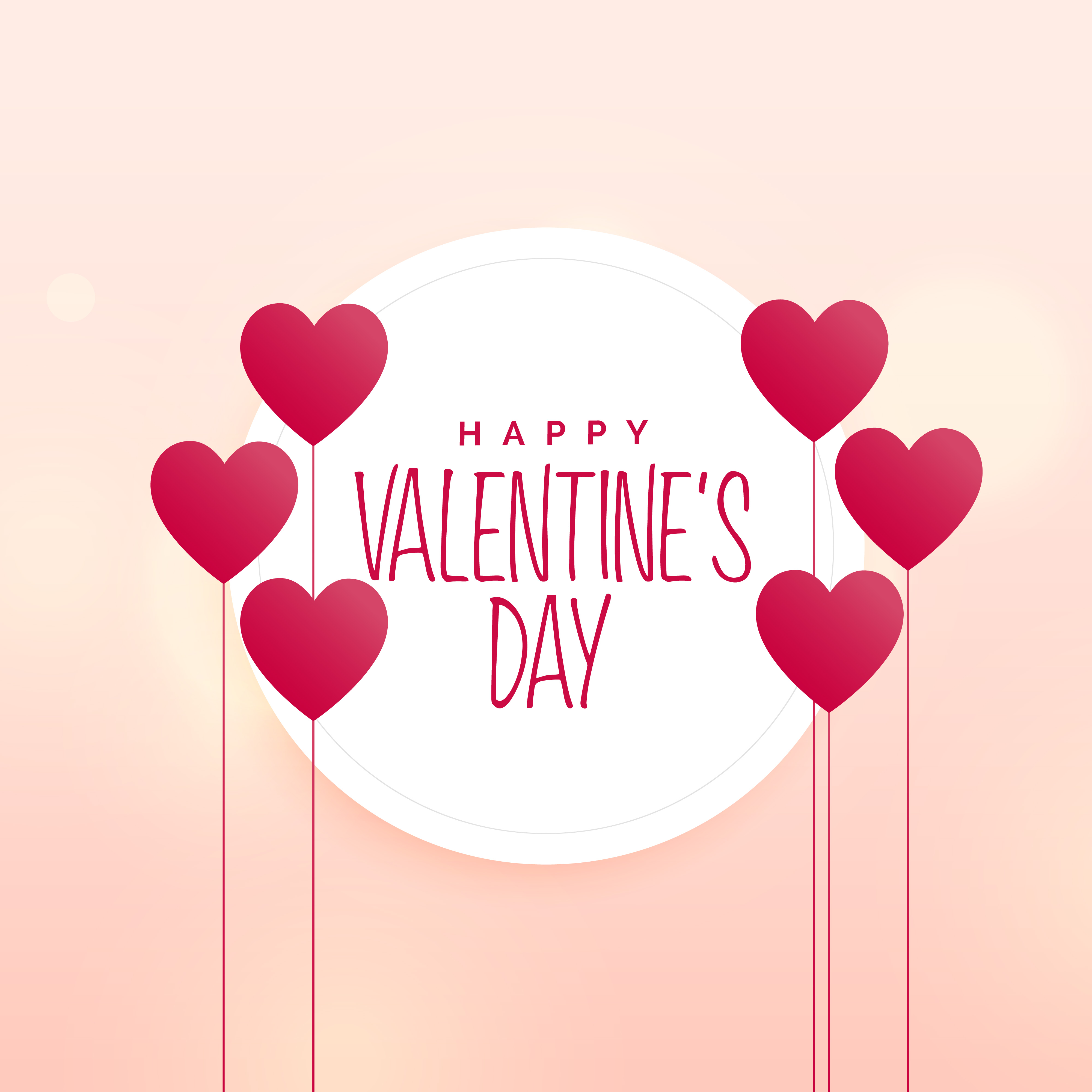 Happy valentine 39 s day cute heart background download free vector art stock graphics images - Cute valentines backgrounds ...