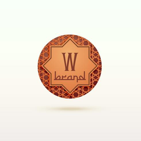 design de conceito de logotipo de marca islâmica