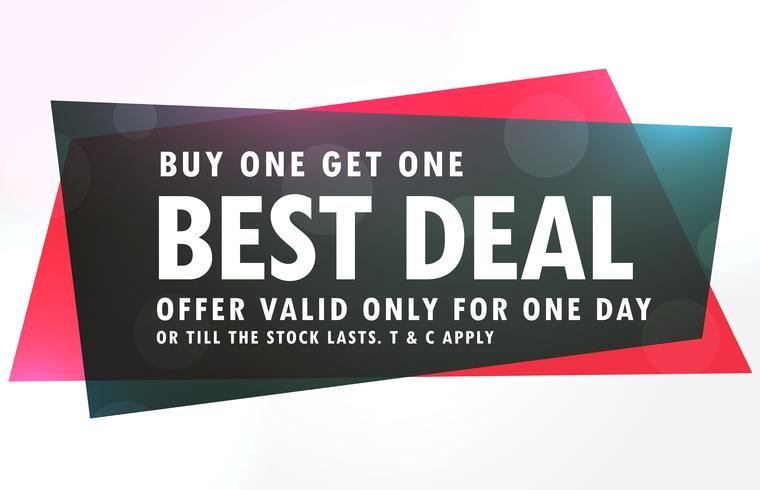 sale banner design in red and black geometric shape