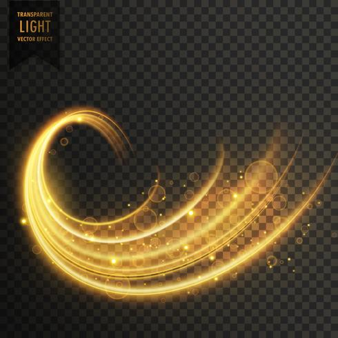 transparent golden light effect vector