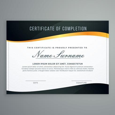 certificate design in muxury modern style vector illustration