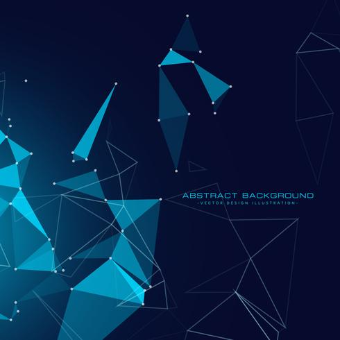 digital technology background with floating triangles and wire m