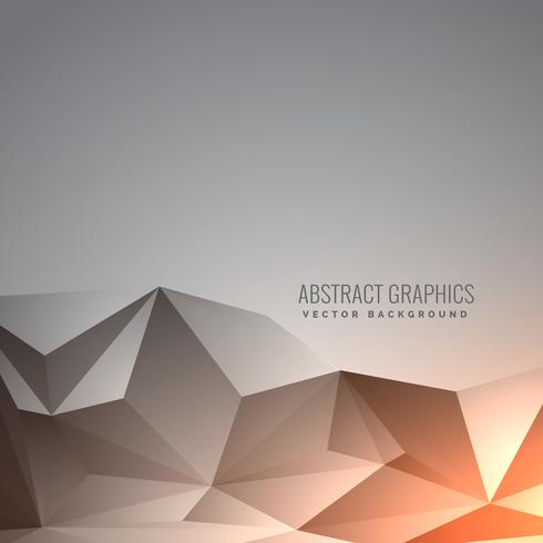 elegant abstract gray low poly background in minimal style
