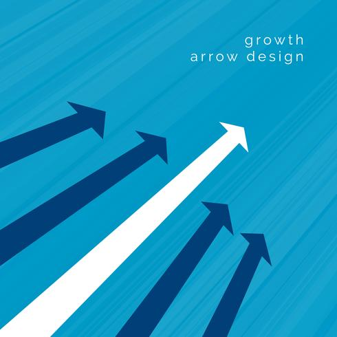 white arrow leading business concept design